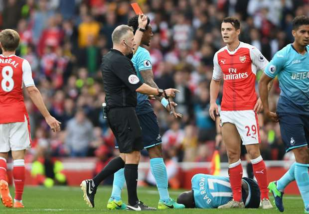 Wenger on Xhaka red card: It was a dark yellow