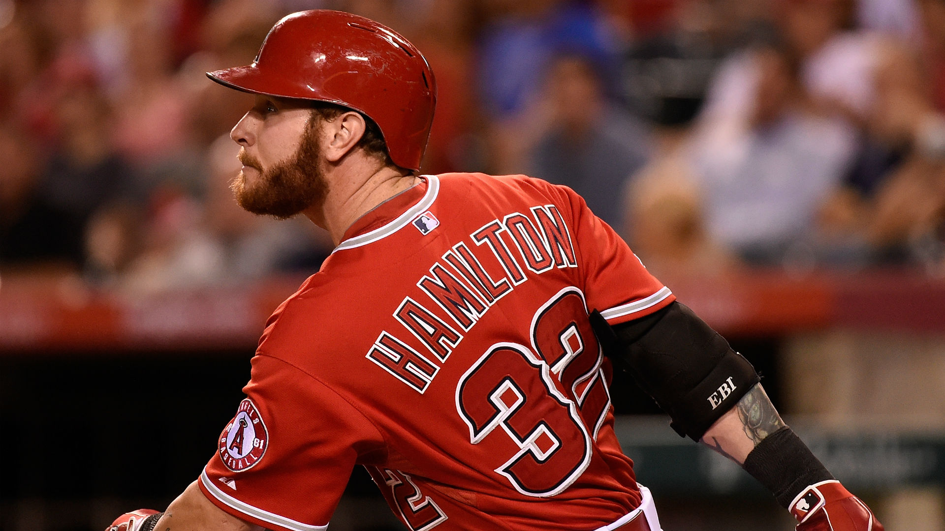 Angels outfielder Josh Hamilton