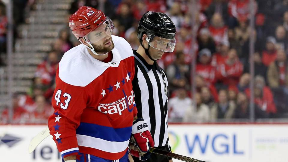 Capitals' Tom Wilson ejected for illegal check to the head on Devils' Brett Seney