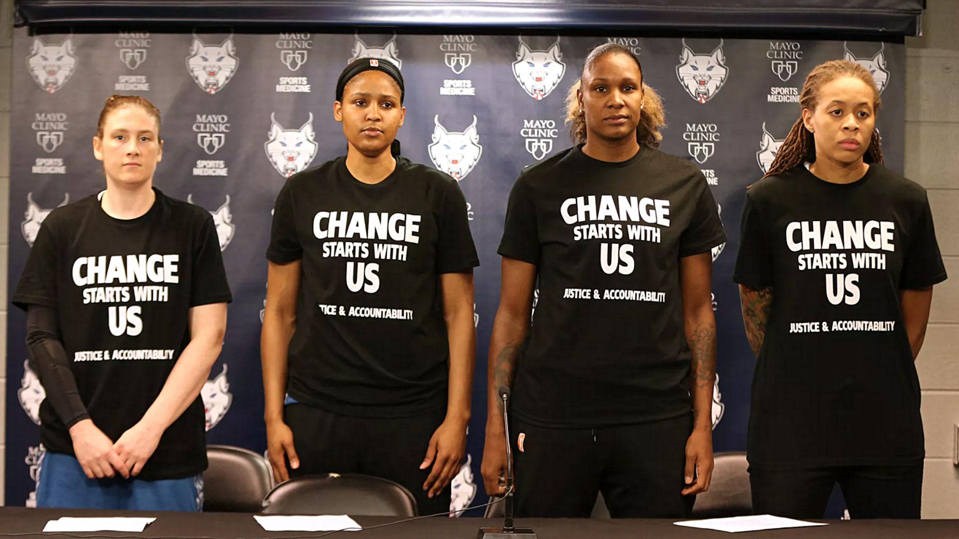 WNBA's Lynx won't wear 'Black Lives Matter' warmup T-shirts in ...