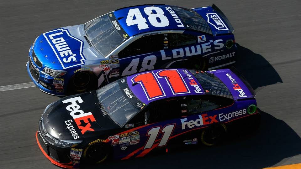 Jimmie Johnson and Denny Hamlin