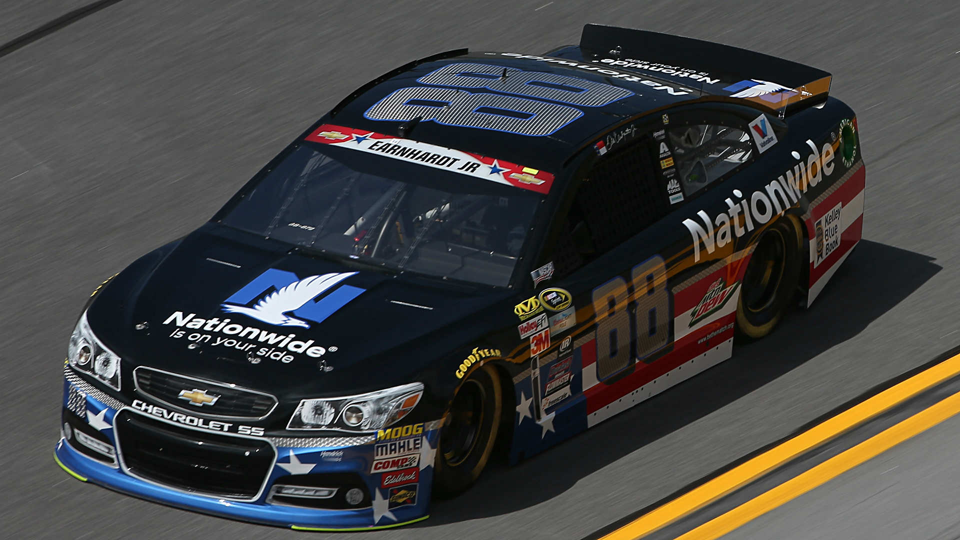 Dale Jr. will start on the pole for the Coke Zero 400