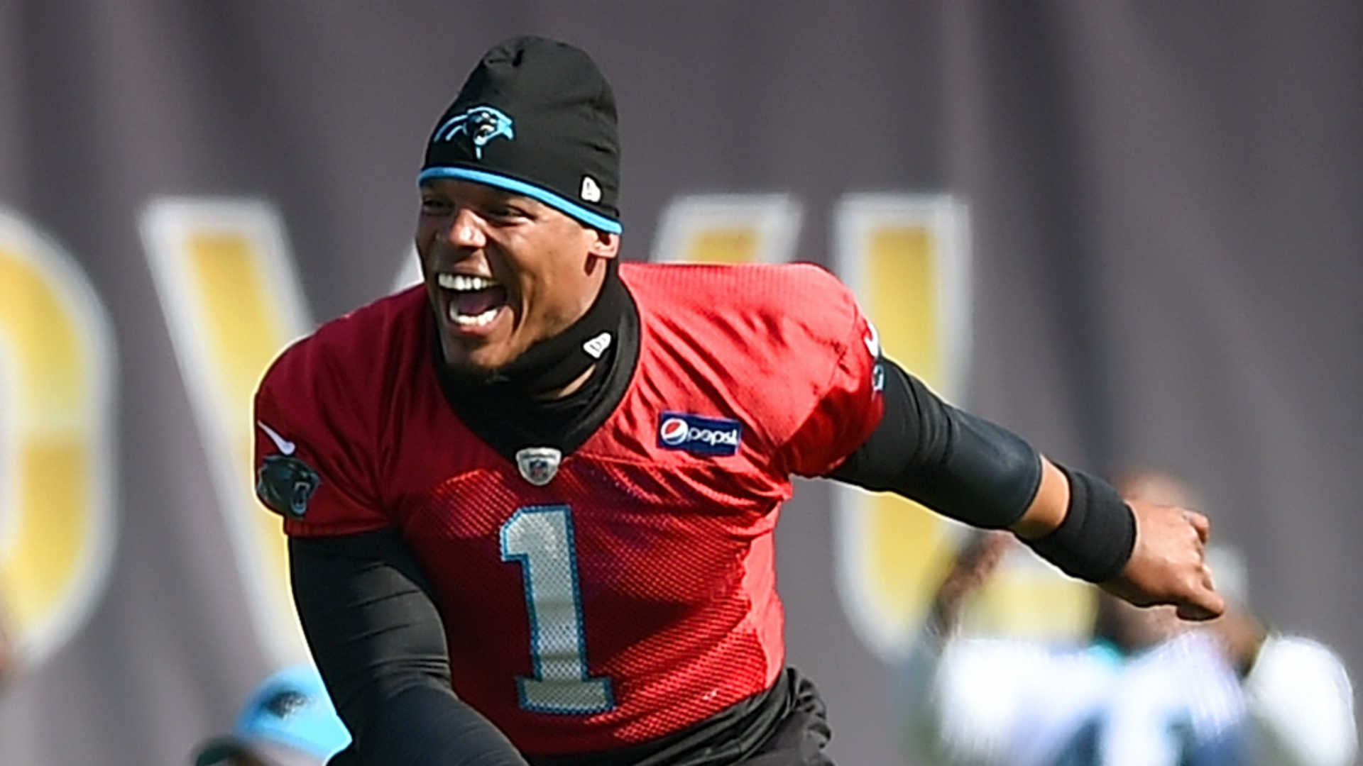 'Dynamic' Cam Newton plays role of cheerleader during Panthers fan fest