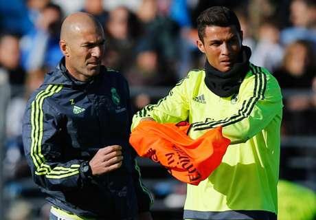 Zidane reveals admiration for Ronaldo