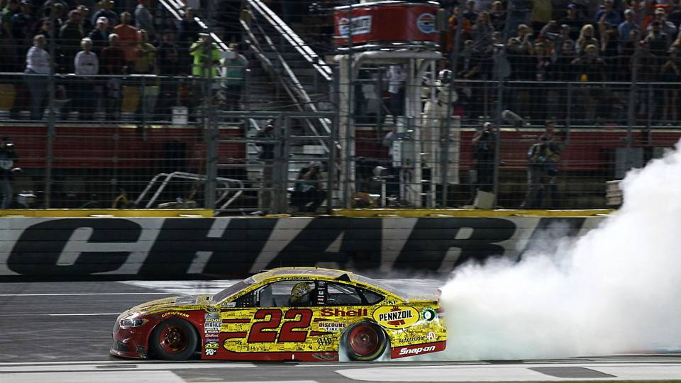 Joey Logano wins at Charlotte