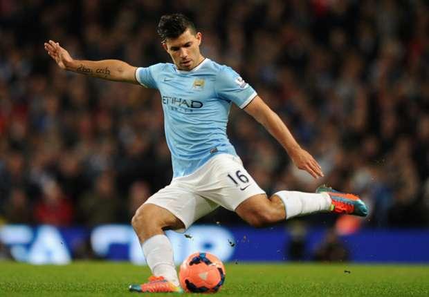Agüero, delantero del Manchester City