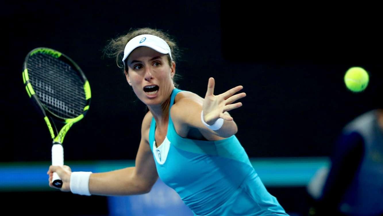 Konta retains WTA Finals hope despite foot injury
