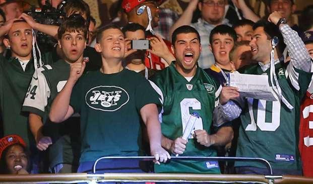 Jets fans at Radio City Music Hall