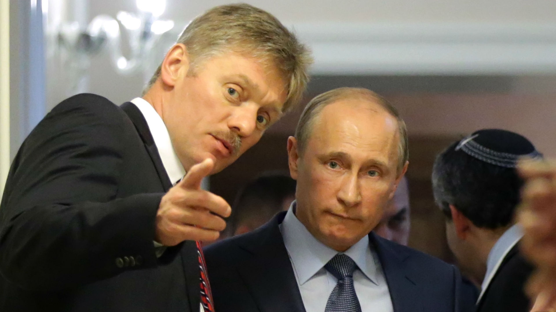 Dmitry Peskov and Vladimir Putin - cropped
