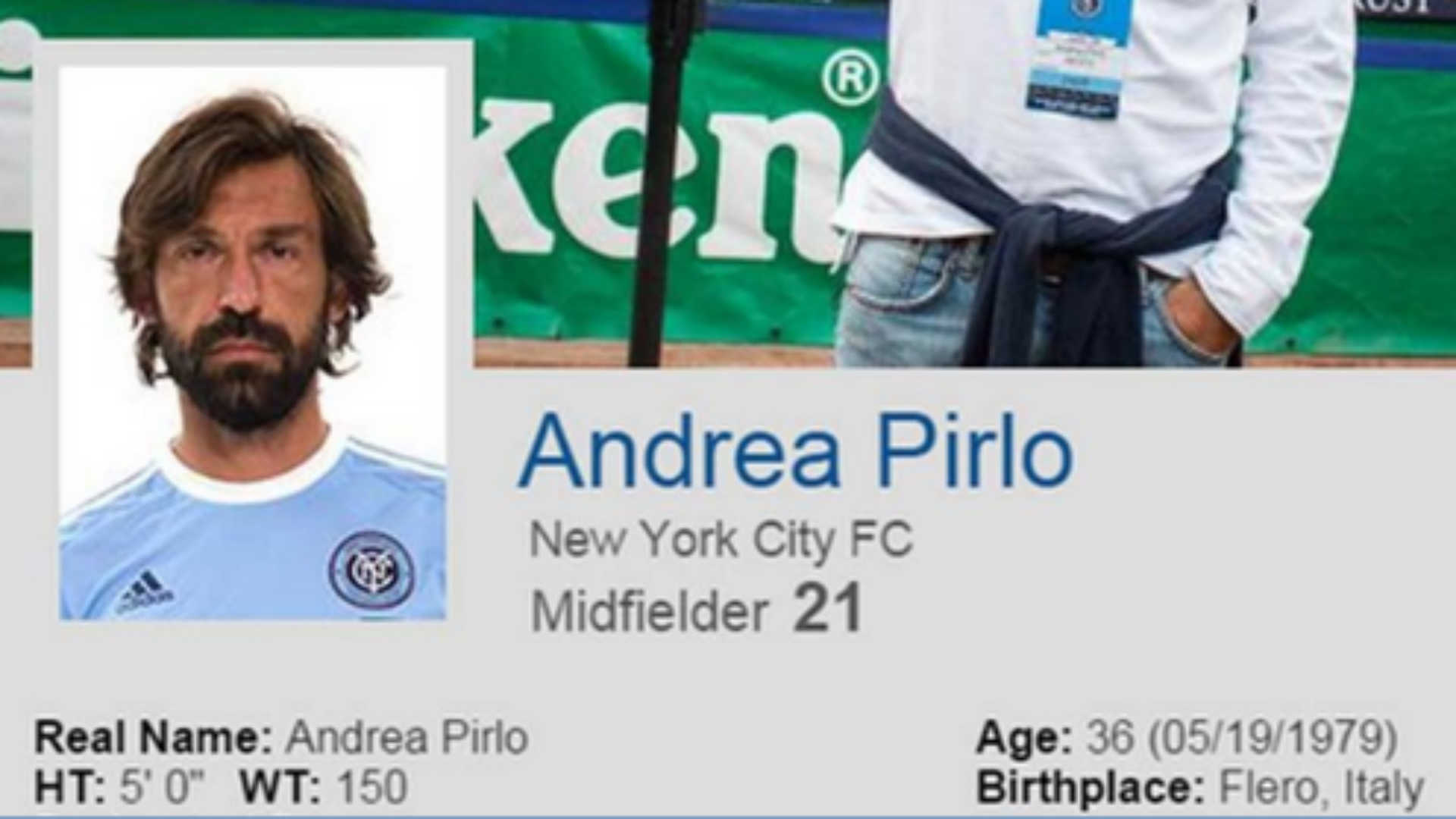 Andrea Pirlo's signing with NYCFC hinted at by team's website