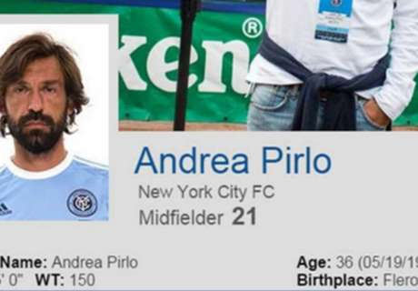 Pirlo profile appears on NYCFC website