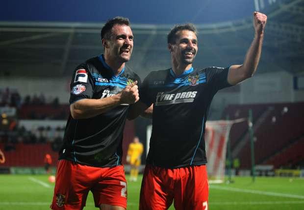 League One Wrap: Stevenage shock Swindon, Walsall edge Oldham