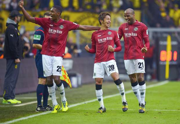 Erzielte das goldene Tor: Hannovers Hiroshi Kiyotake (M.)