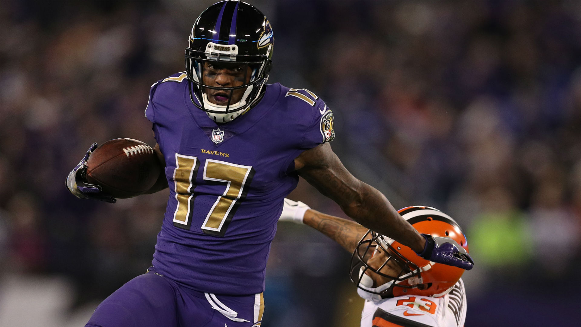 Ravens WR Mike Wallace Put In Concussion Protocol Following Devastating Hit