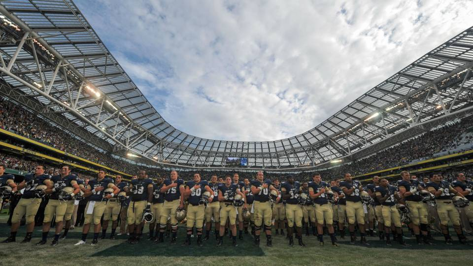 2020 Notre Dame-Navy game to be played in Dublin  d0a5fe604