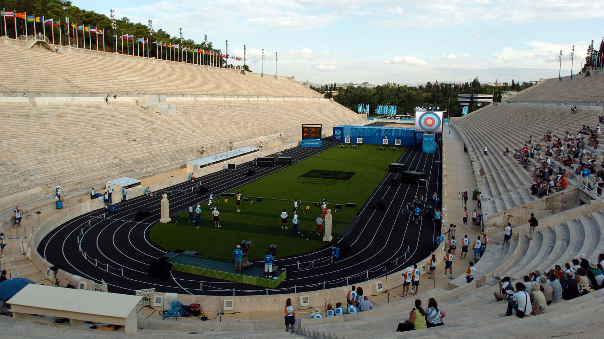 Panathinaiko Stadium, the site of the first modern Olympic Games in 1896