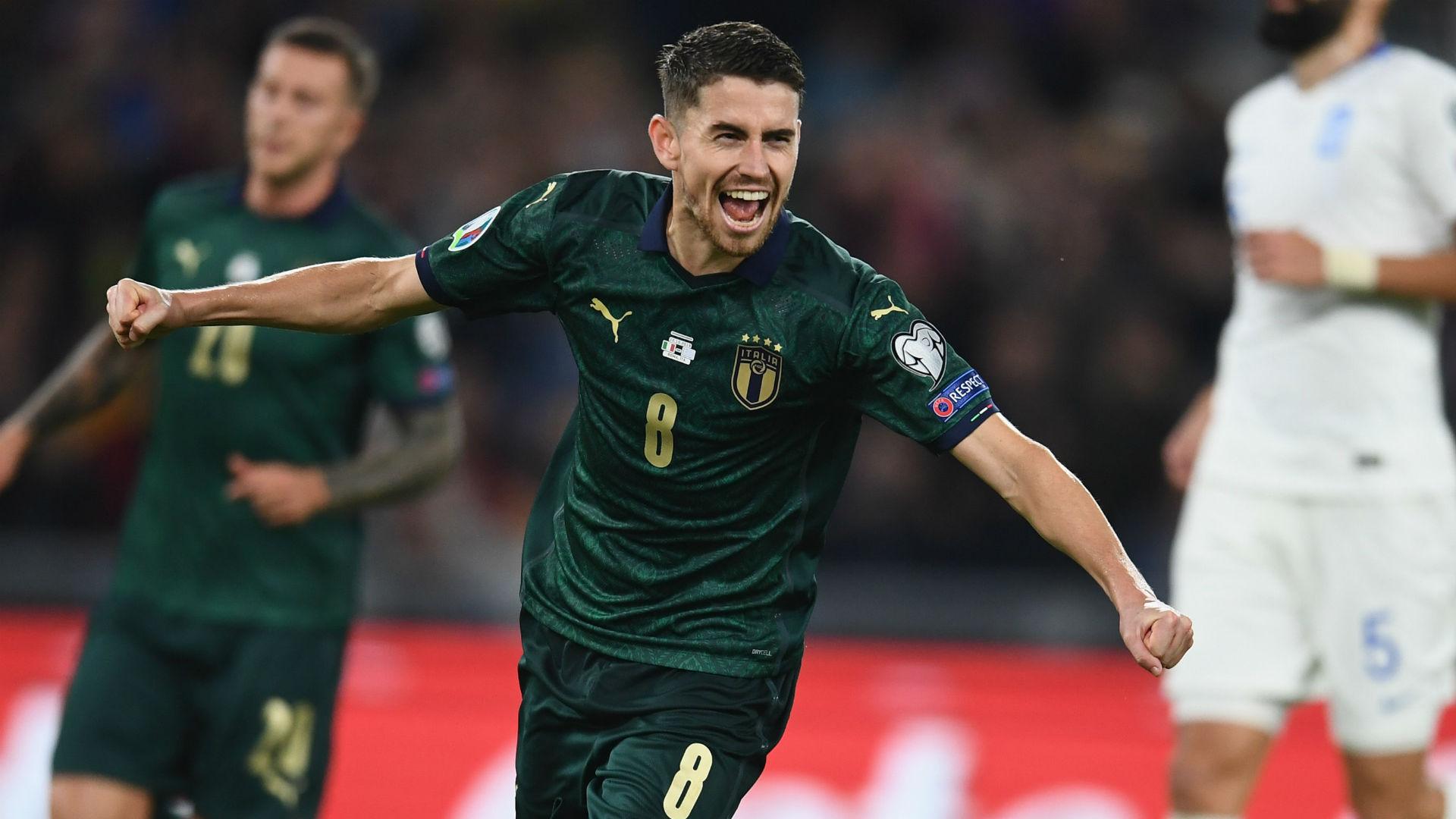 Italy 2-0 Greece: Jorginho and Bernardeschi book the Azzurri's Euro 2020 spot