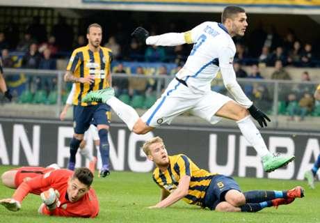 Verona 3-3 Inter: Icardi, Perisic score