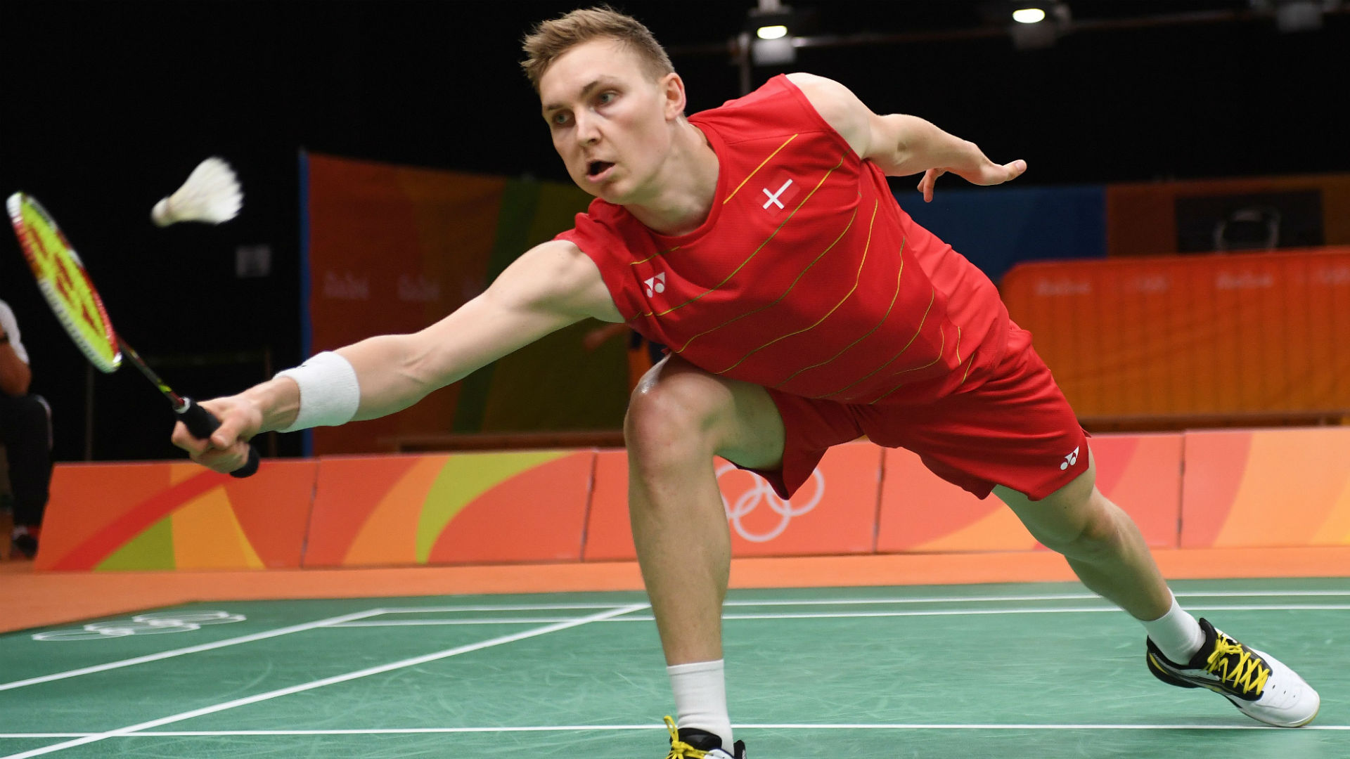 Rio Olympics 2016 Badminton player falls through hole during