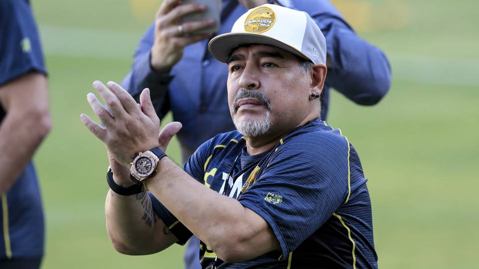 Soccer legend Maradona opens up about past substance abuse issues