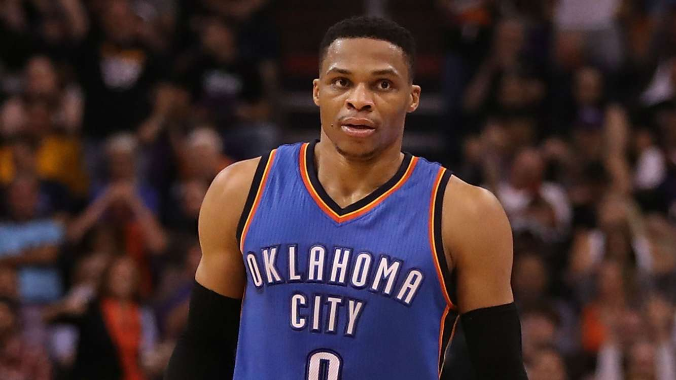 Russell Westbrook speaks after averaging triple-double for season