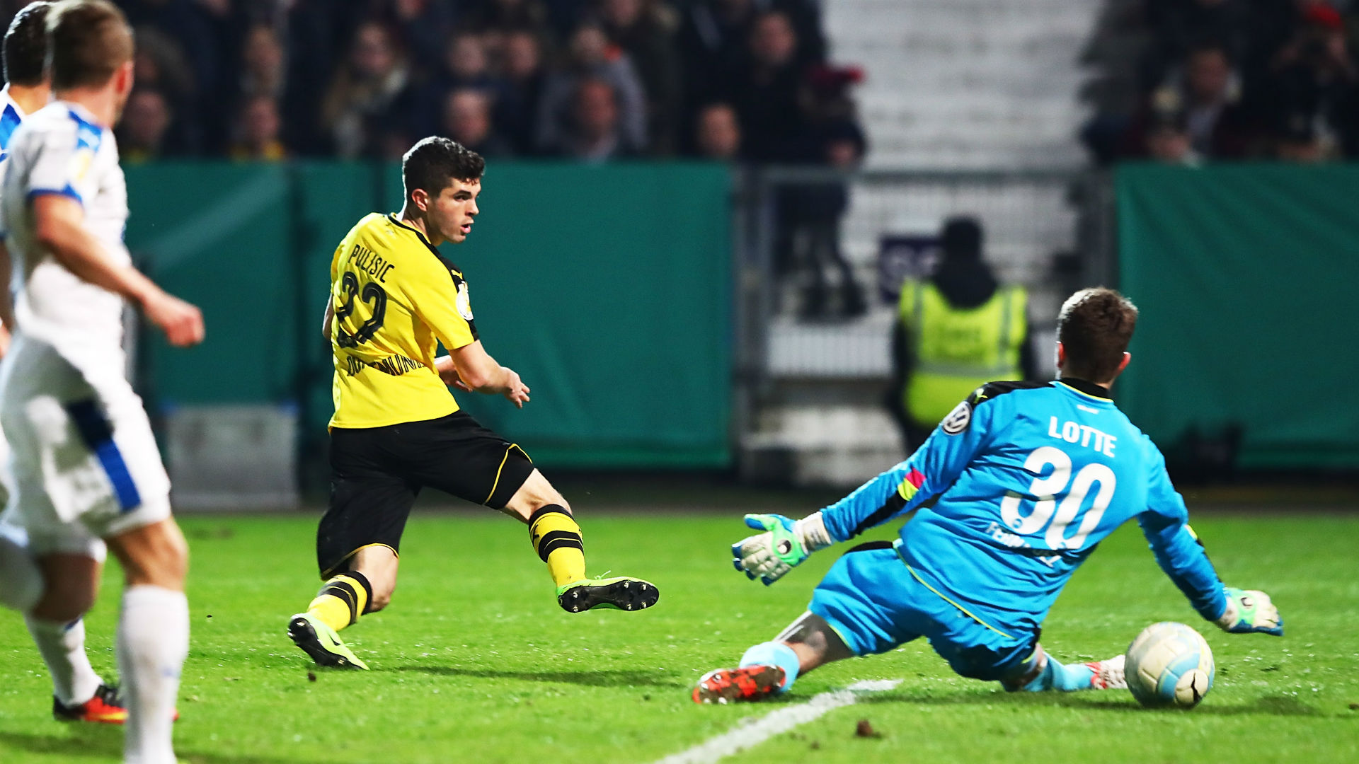 Dortmund beats Lotte for German Cup semifinal against Bayern