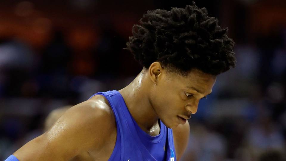 Watch: De'Aaron Fox, Bam Adebayo sob after Kentucky's ...