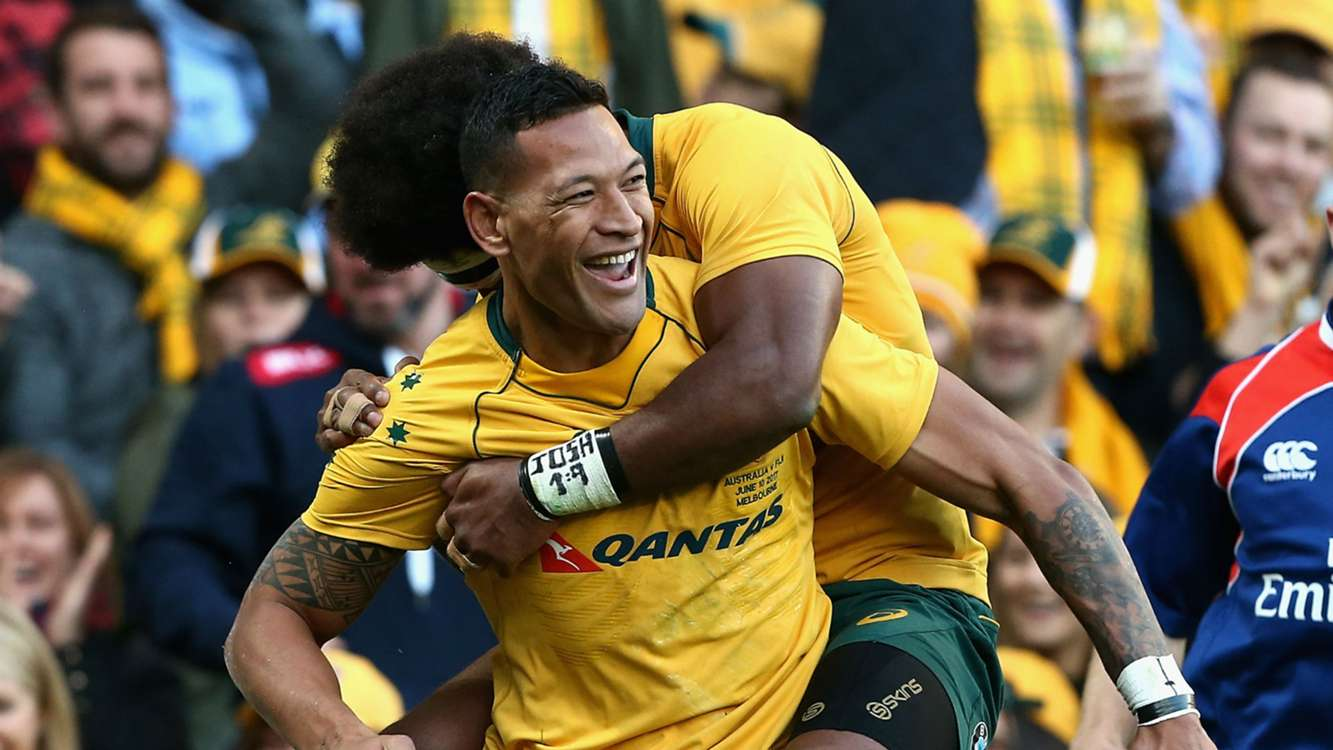 Cheika hails 'dangerous' Folau in Wallabies win