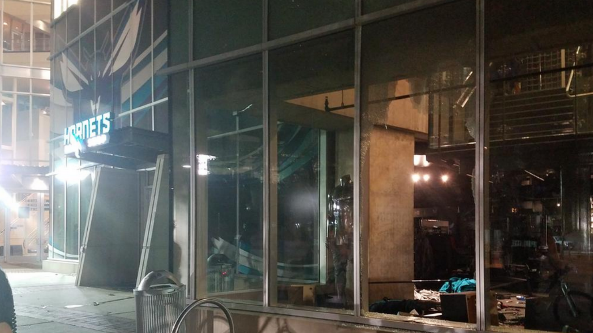 Time Warner Cable Arena looted by protesters