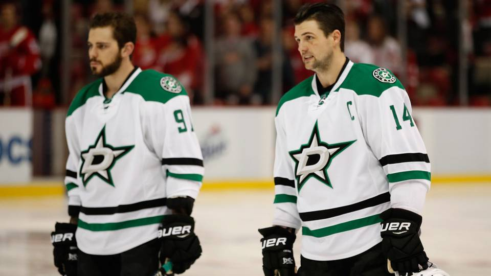 Tyler Seguin (left) and Jamie Benn (right)