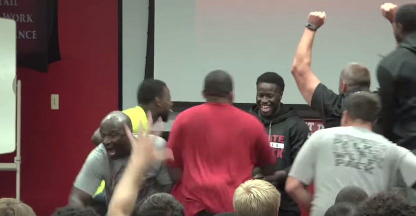 b97b35f5b N.C. State football players go crazy for another walk-on s scholarship