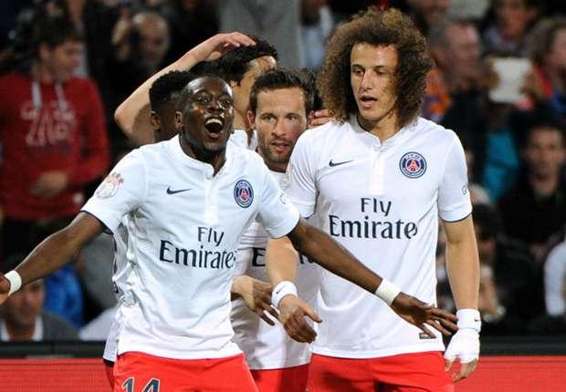 PSG midfielder Blaise Matuidi celebrates a goal