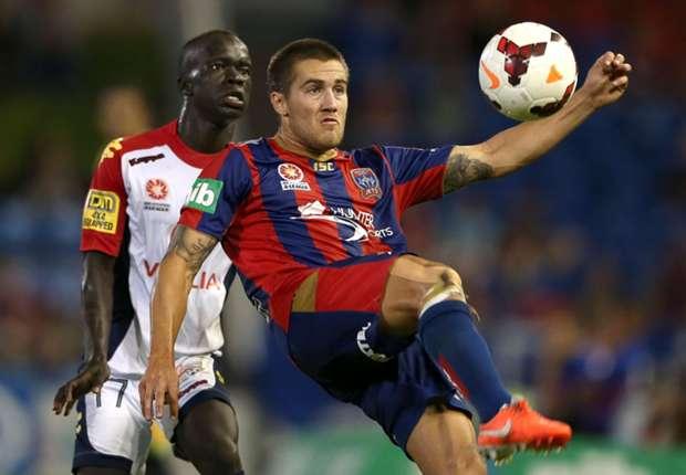 Newcastle Jets midfielder Josh Brillante