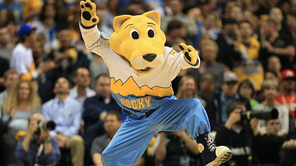 Nuggets mascot Rocky