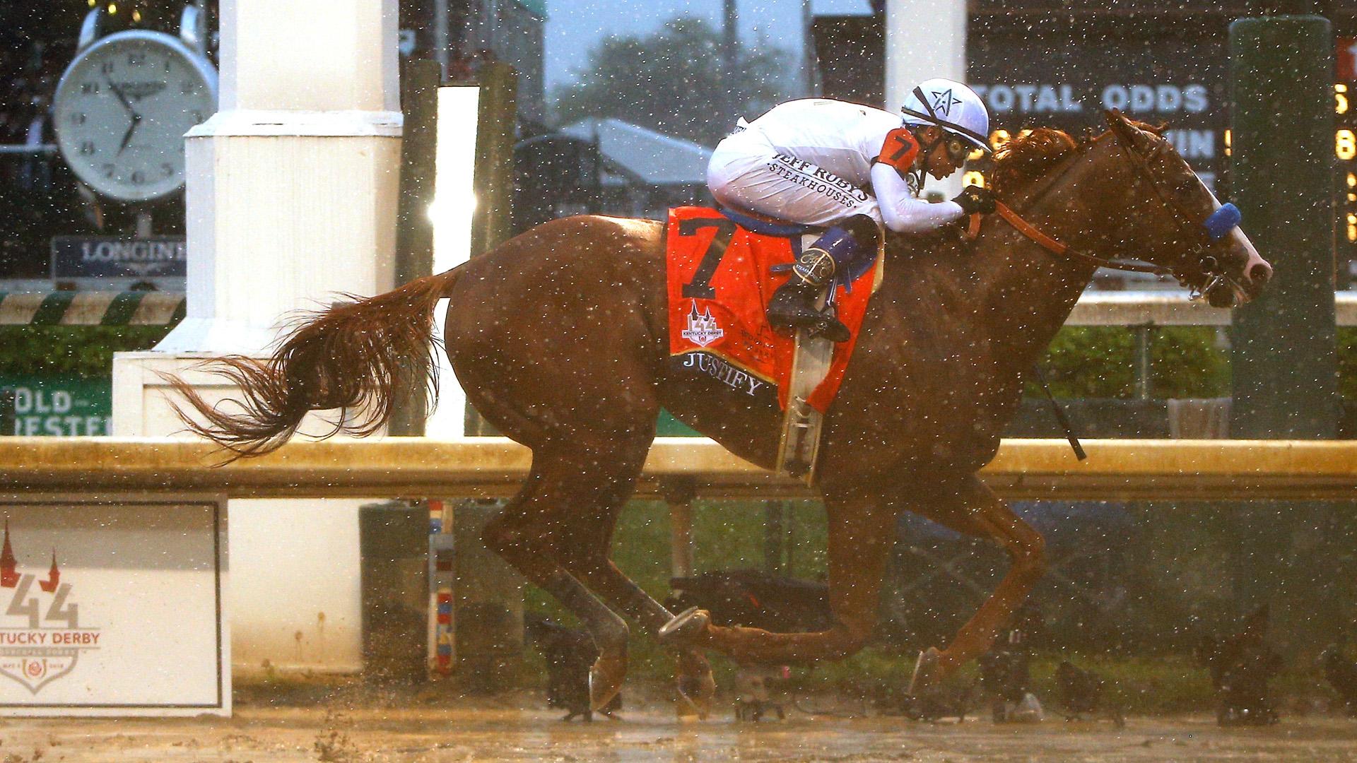 'Justify' justifies odds, breaks curse in sloppy Kentucky Derby