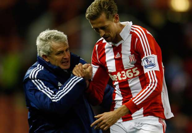 Stoke boss Mark Hughes hopes for change of luck in 2014
