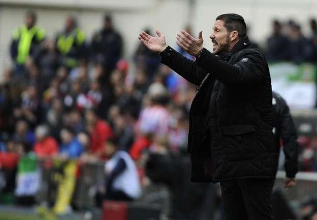 Diego Simeone: Hablaré de la Liga cuando queden cinco jornadas