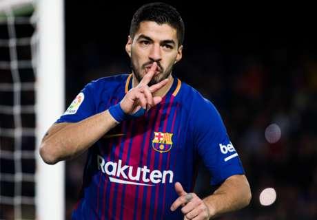 Suarez scores 100th La Liga goal