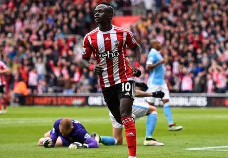 Southampton 4-2 Man City: Mané hat trick