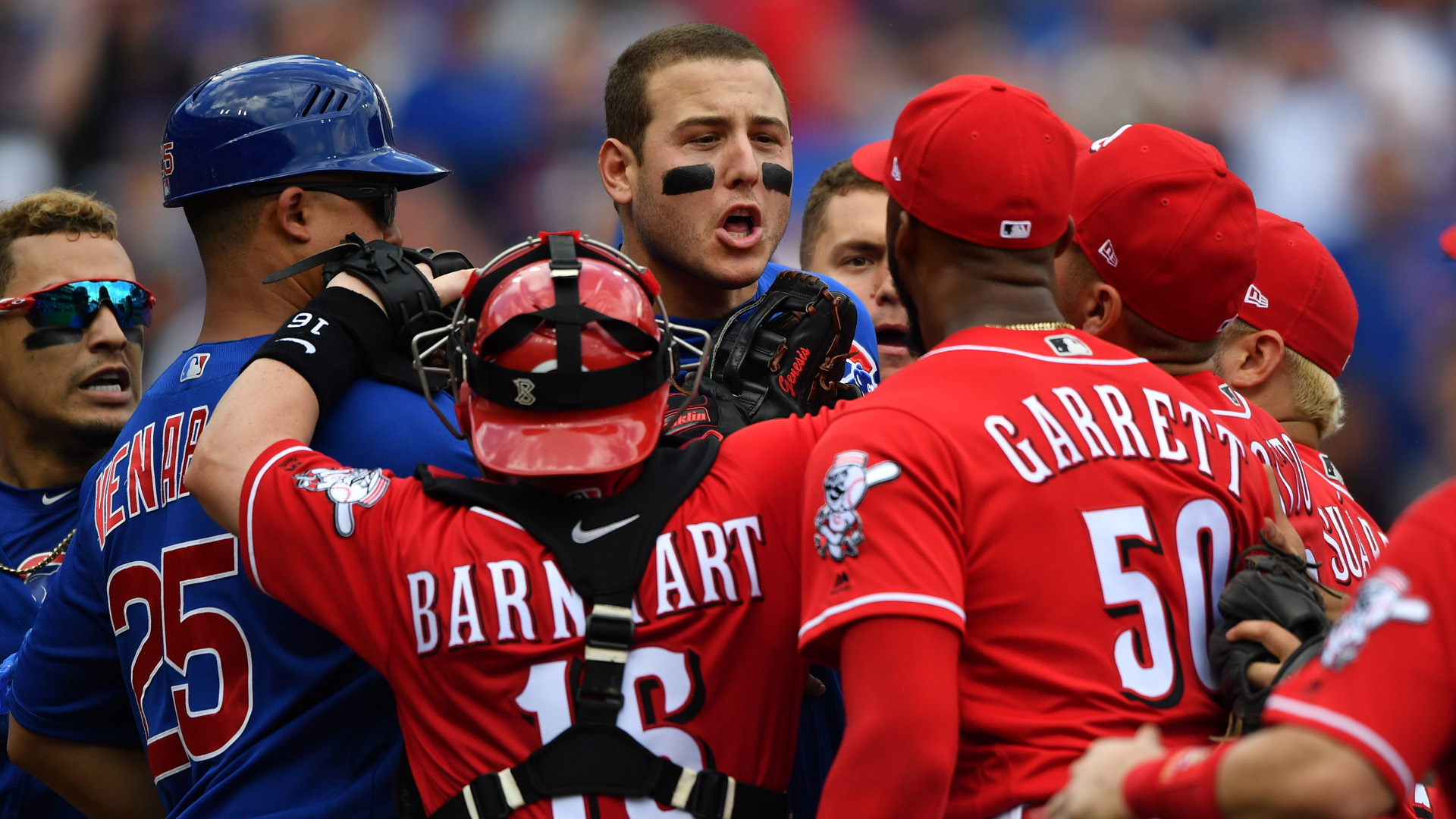 Cubs' Javy Baez on Reds' Amir Garrett: 'If you want to fight you're in the wrong sport'