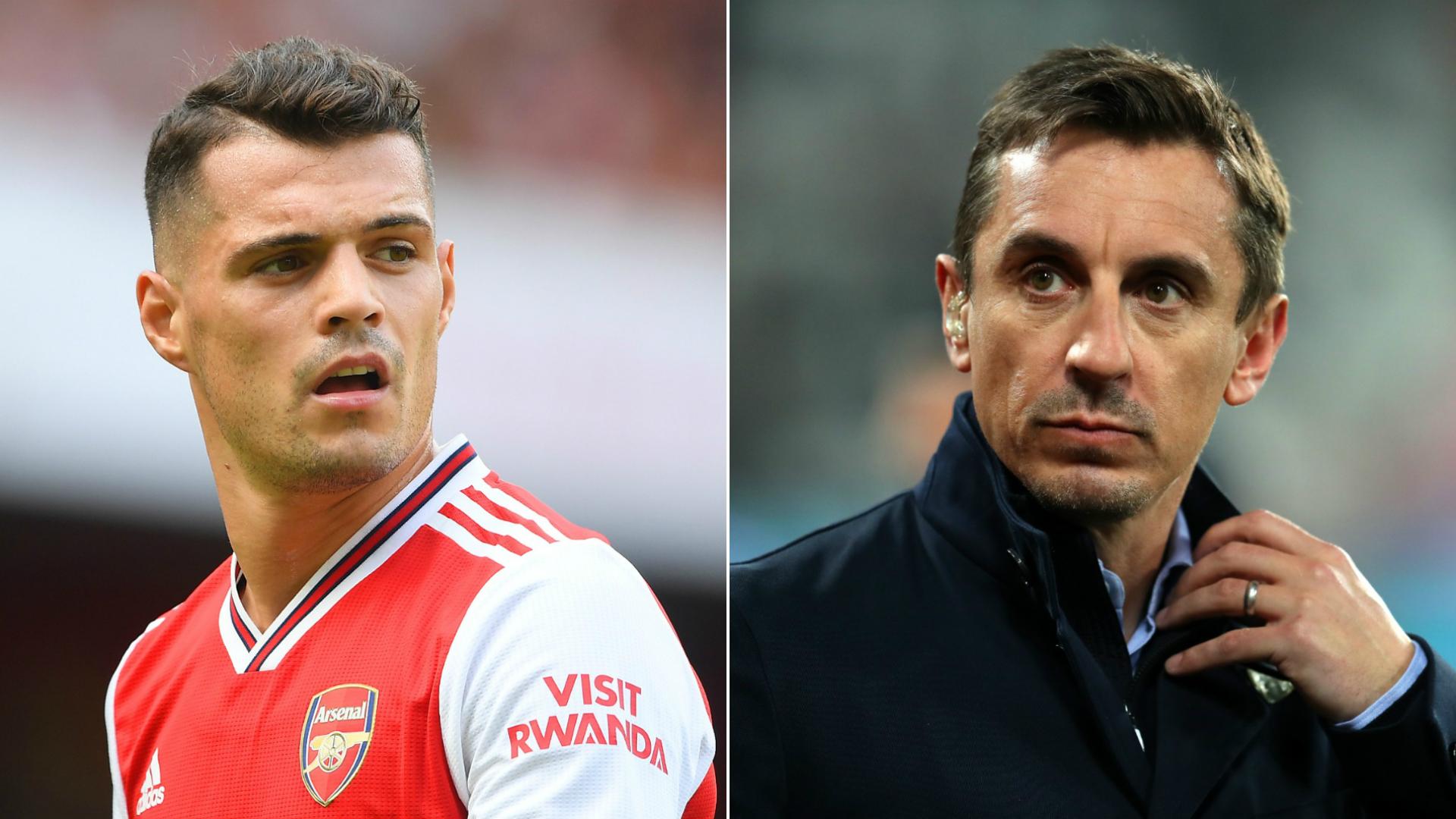 Arsenal midfielder Xhaka must be willing to accept fan criticism - Neville