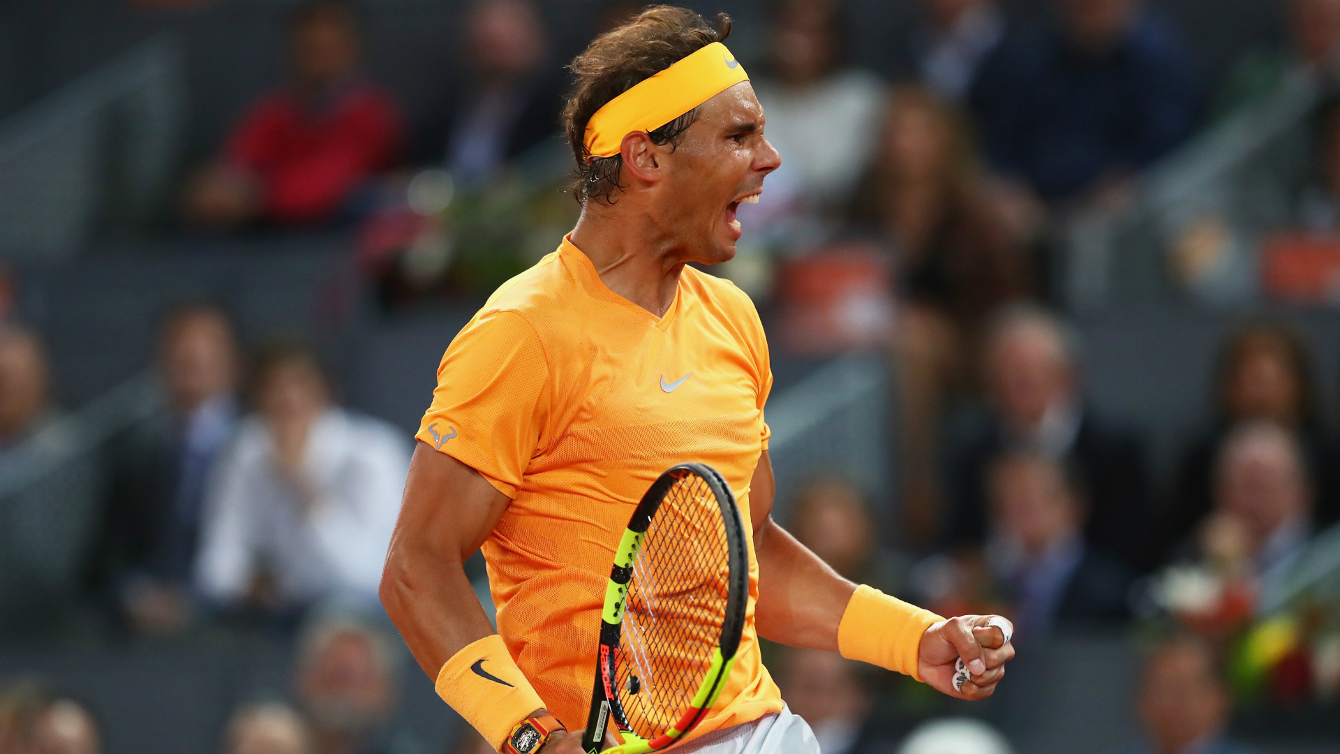 Rafael Nadal reacts to getting back to winning ways in Rome