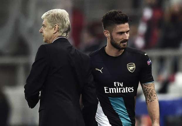 Wenger unworried by Giroud goal drought