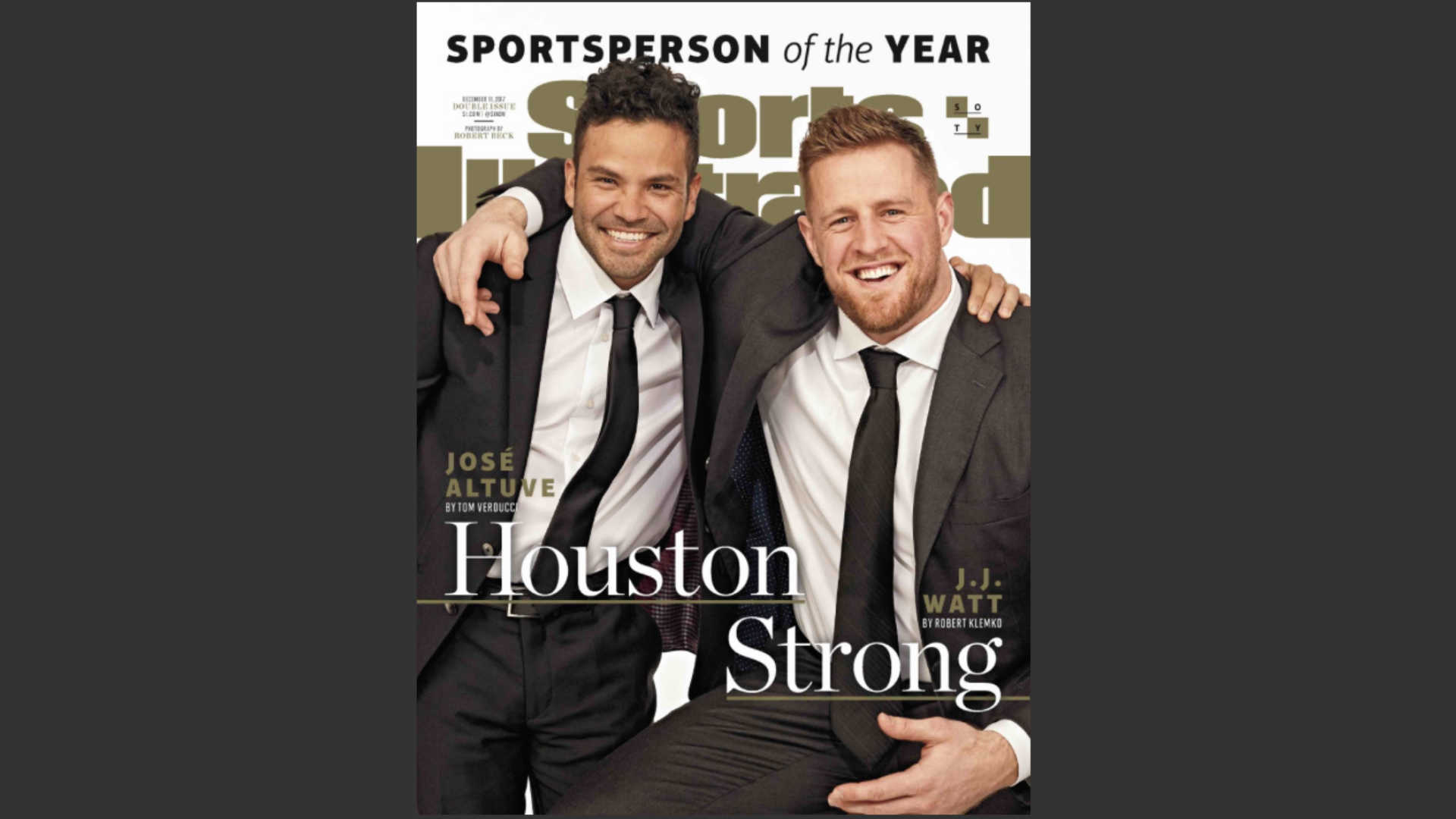 JJ Watt named 1 of Sports Illustrated's 2017 Sportspersons of the Year