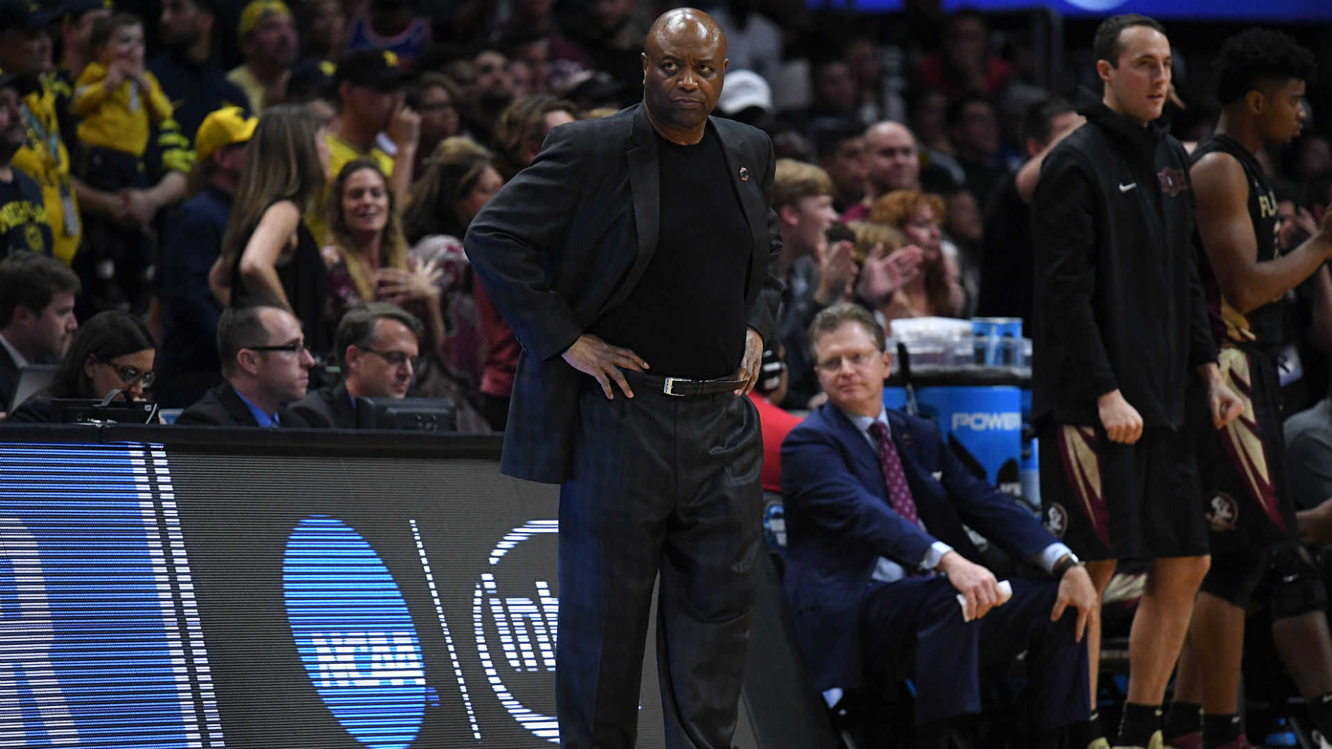 Leonard Hamilton stunned Dana Jacobson is asking about fouling