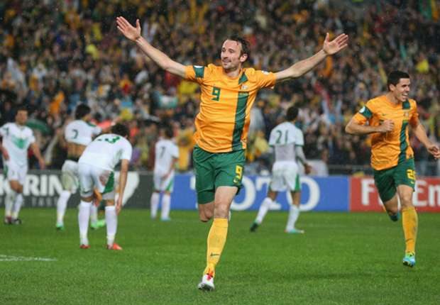 Australia striker Josh Kennedy