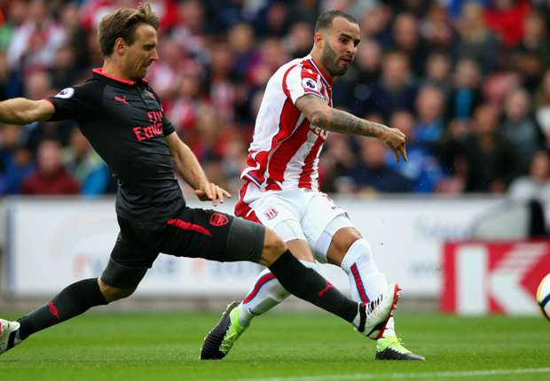 Jese Rodriguez scores for Stoke against Arsenal on his debut