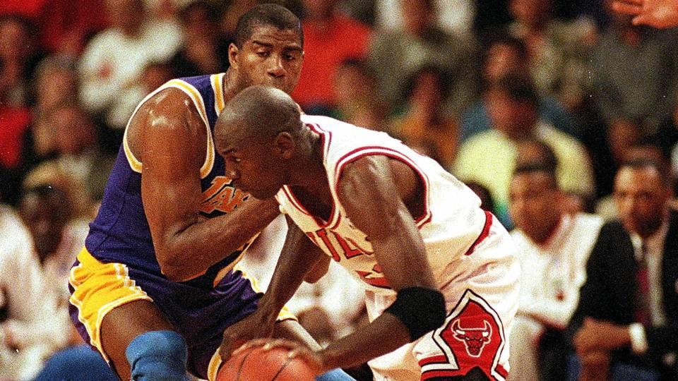 980fb0735ced7b NBA Finals moments  Michael Jordan and  The Move  signal new era ...