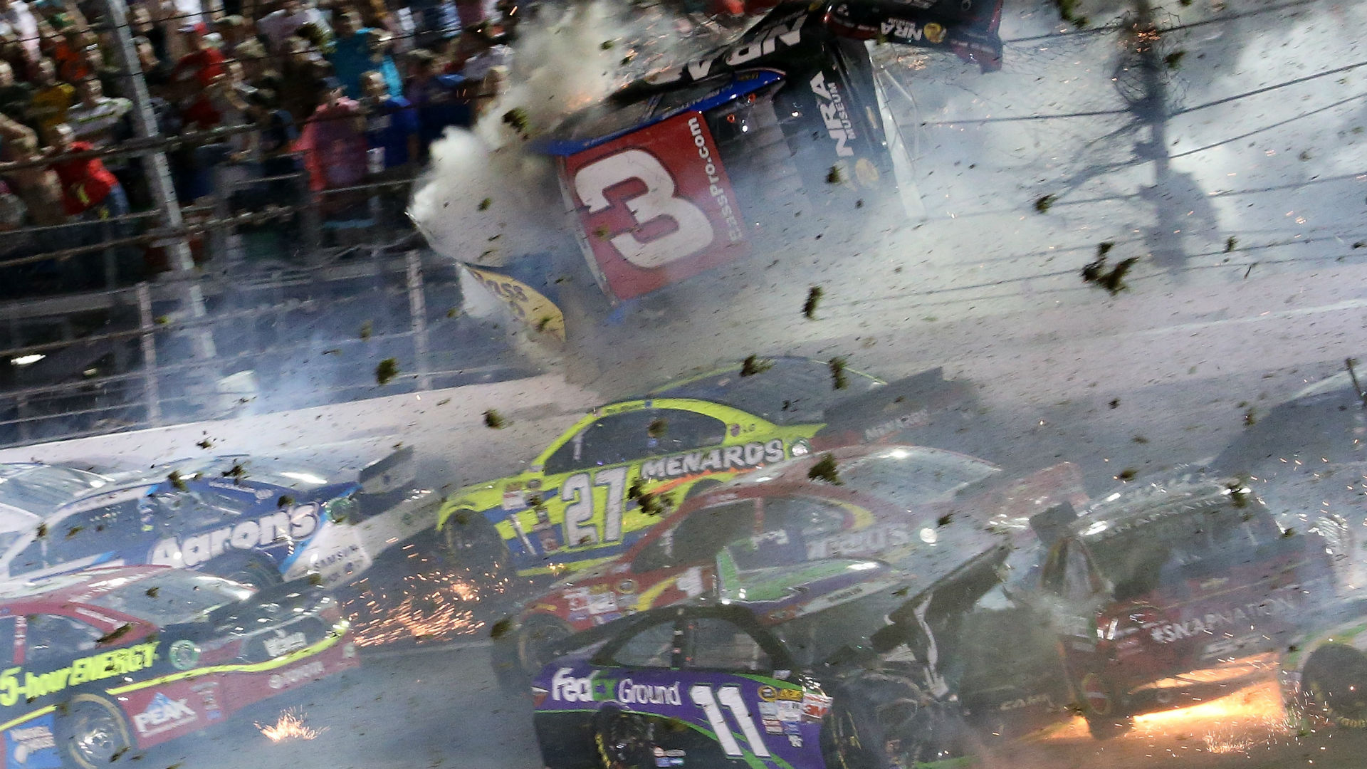 Listen to Dale Earnhardt Jr.'s in-car reaction to the Austin Dillon wreck