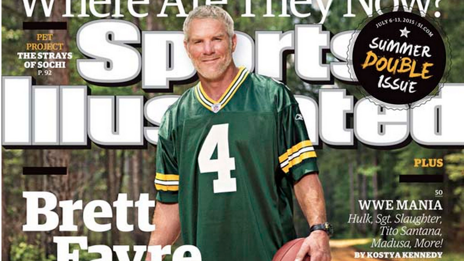 Brett Favre puts on Packers jersey for first time in seven years